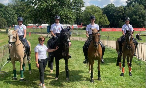 Irish Pony Dressage Team Impress at Europeans