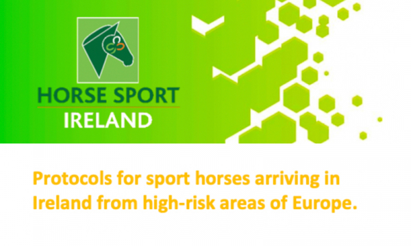 ** EHV 1 Virus - Returning From International Travel (Horses, riders, owners, grooms and drivers) **